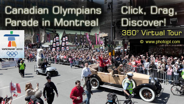 Olympic parade in Montreal